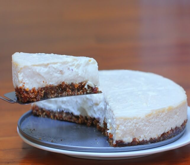 Light and creamy healthy cheesecake recipe from @choccoveredkt… Creamier than Cheesecake factory, with a third of the sugar, and readers picked this as the BEST cheesecake recipe they've ever tried, healthy or not!