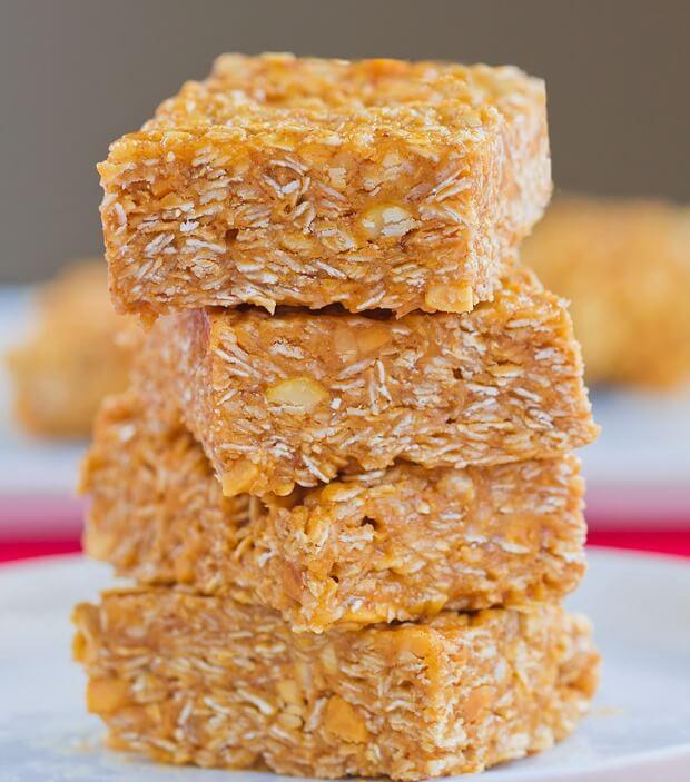 No-Bake Chocolate And Peanut Butter Oatmeal Bars Recipe ...