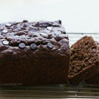 Gooey Chocolate Coconut Banana Bread
