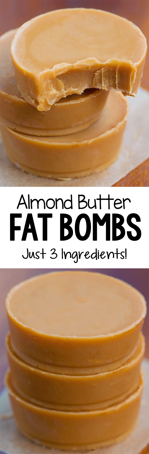 3 Ingredient Almond Butter Fat Bombs, low carb and keto