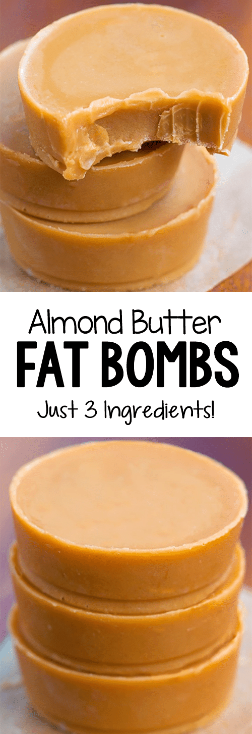 Low Carb Keto Almond Butter Fat Bombs Recipe