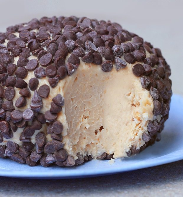 Peanut Butter Chocolate Chip Cheeseball