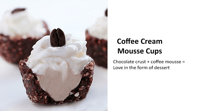 coffee mousse cups