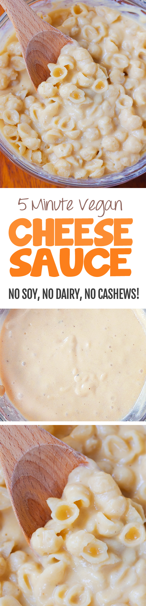 ULTRA creamy vegan cheese sauce - super low in fat and calories & done in 5 minutes... You'll want to put it on everything!!! https://chocolatecoveredkatie.com @choccoveredkt