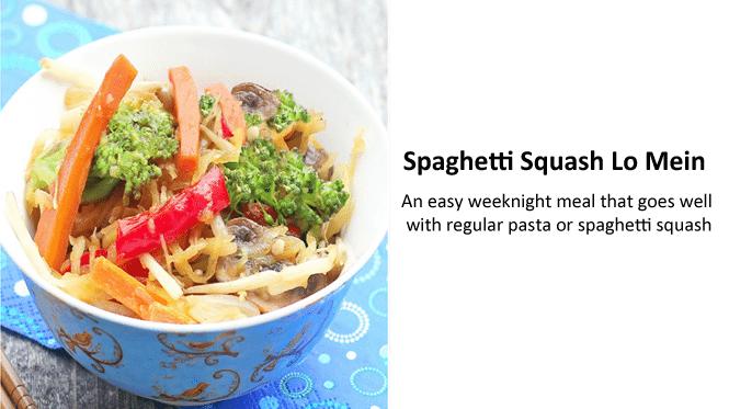 lo mein spaghetti squash