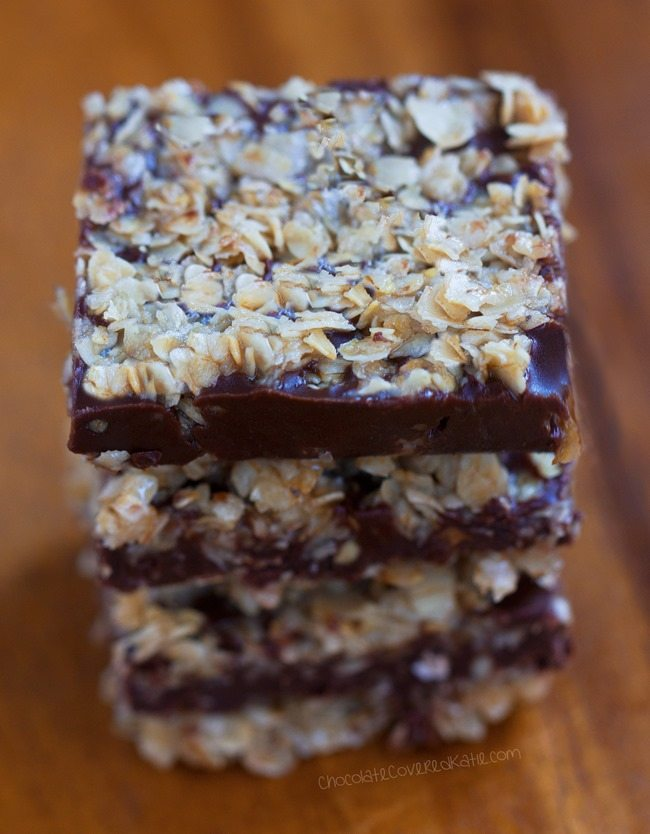 Http Chocolatecoveredkatie Com    Oatmeal Chocolate Fudge Bars