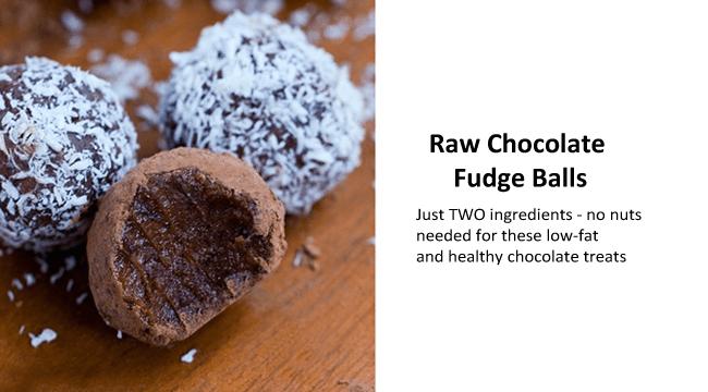 raw chocolate fudge balls