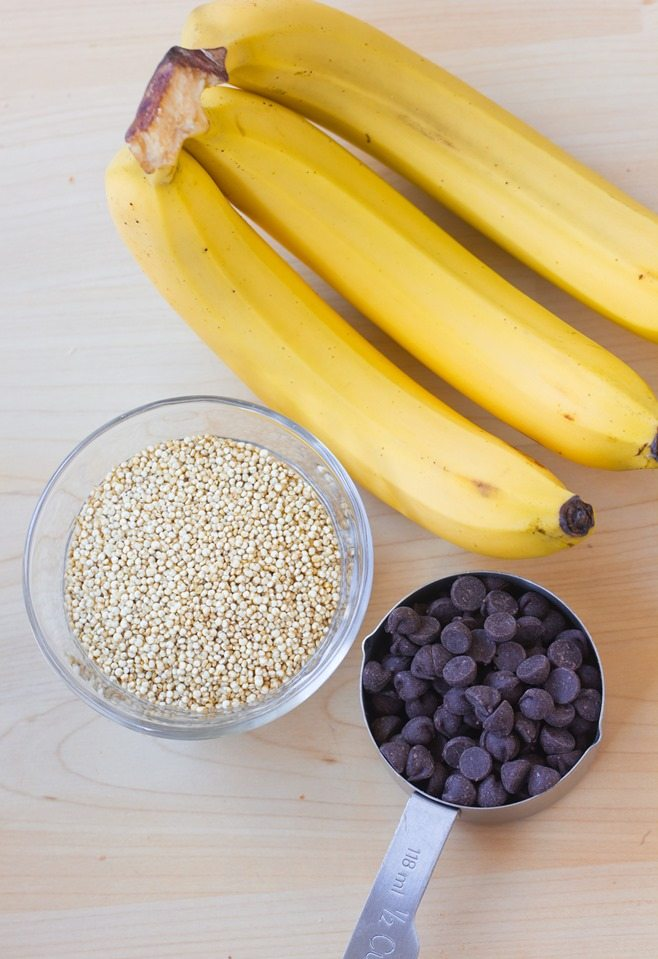 banana quinoa ingredients