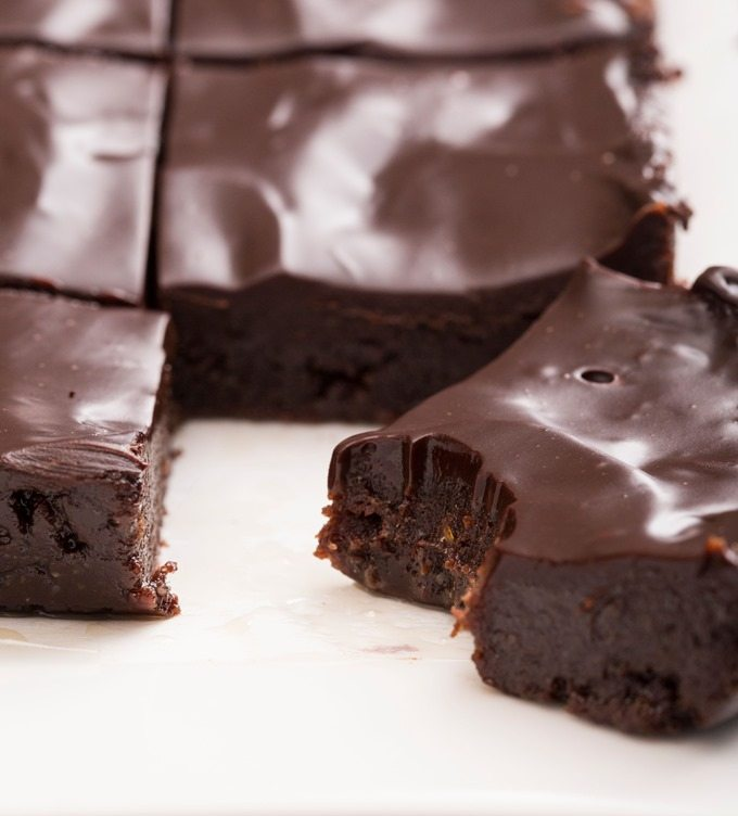 Melted Chocolate Covered Brownies