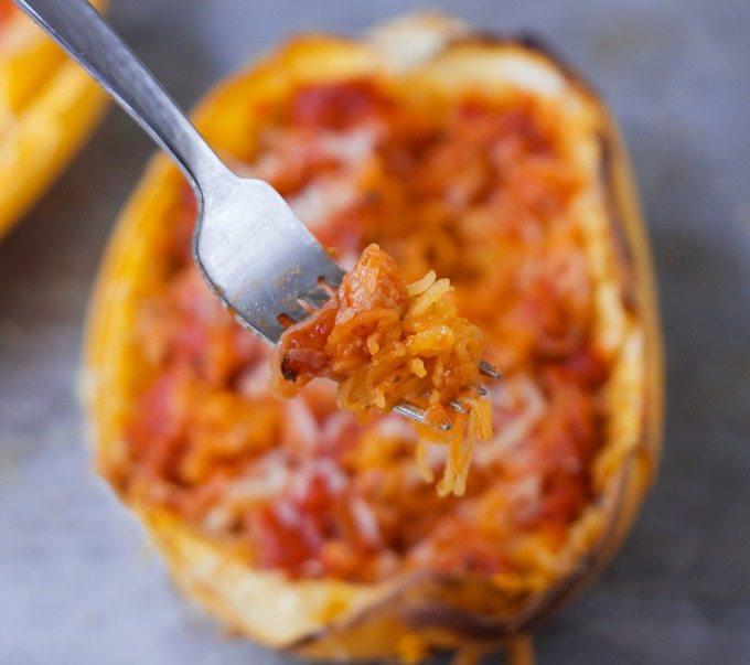 spaghetti squash tomato sauce