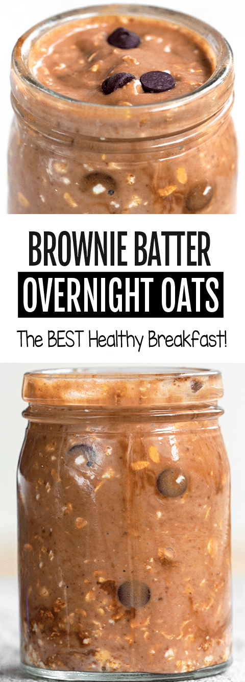 Brownie Batter Chocolate Overnight Oats Recipe