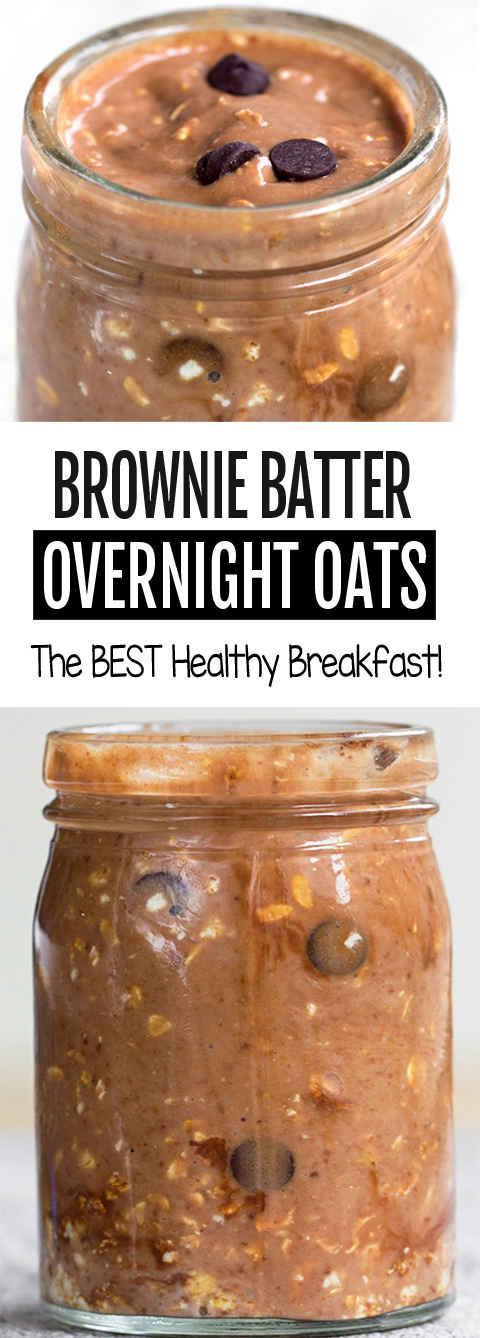 Brownie Batter Chocolate Overnight Oats for a healthy breakfast
