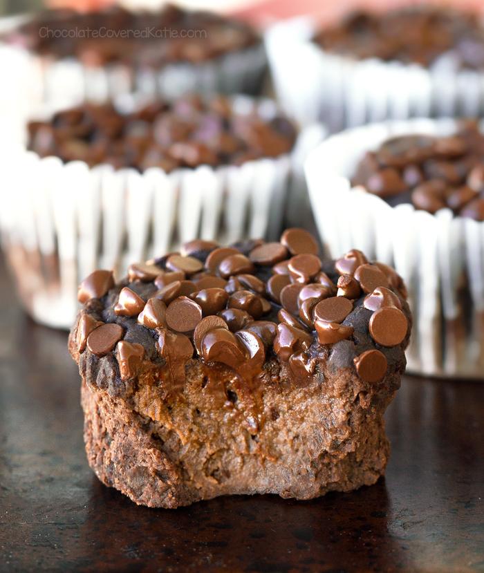 Flourless Chocolate Blender Muffins