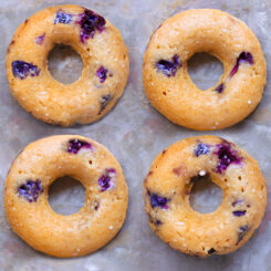 Healthy Blueberry Baked Donuts Recipe