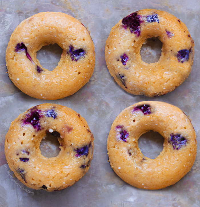 Healthy Blueberry Baked Donuts