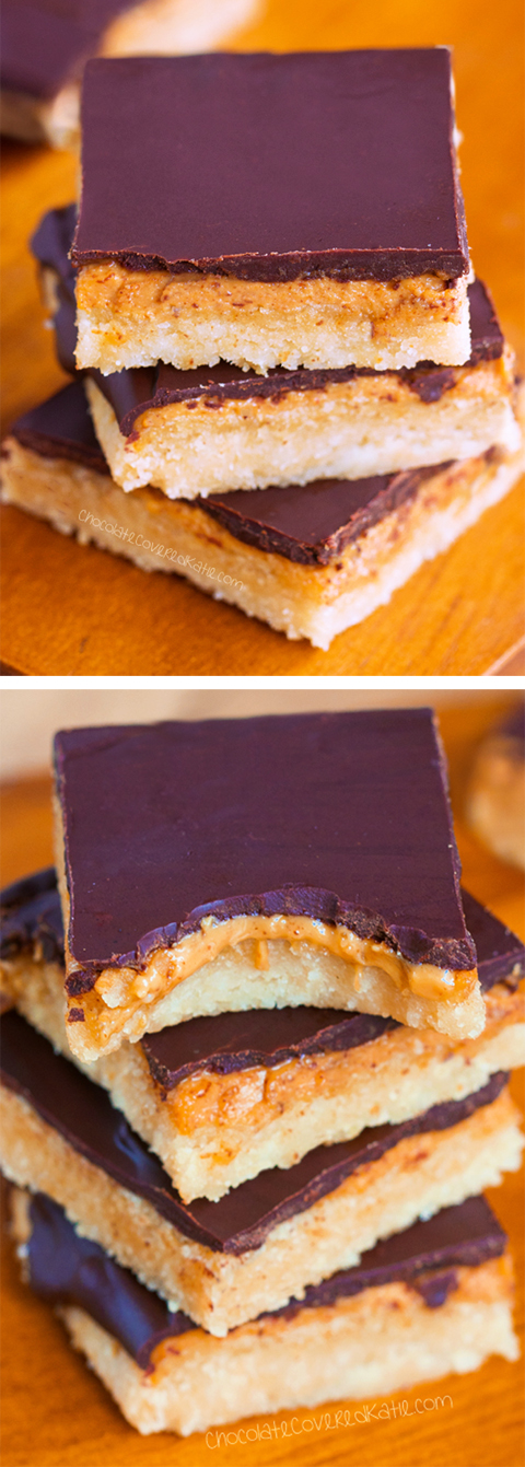 Keto Peanut Butter Tagalong Bars (Vegan, No Sugar, Flourless)