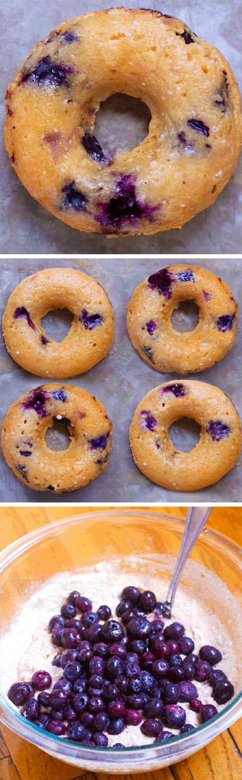 Super Healthy BAKED Blueberry Donuts (Vegan)