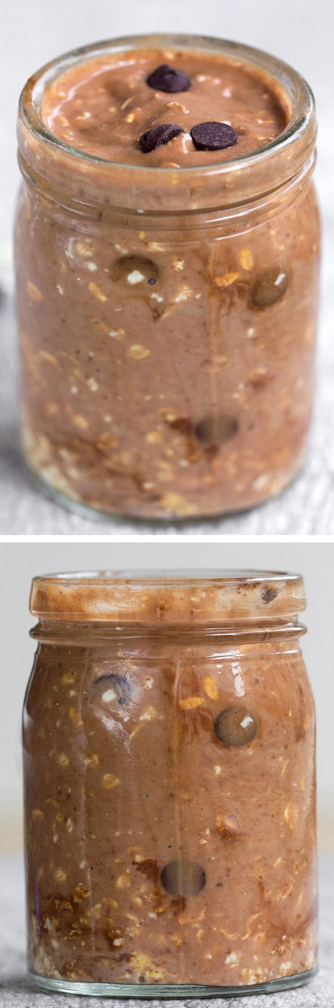 """A super healthy & filling """"grab and go"""" breakfast - just 5 minutes of prep work the night before. This is SO EASY!!! @choccoveredkt https://chocolatecoveredkatie.com"""
