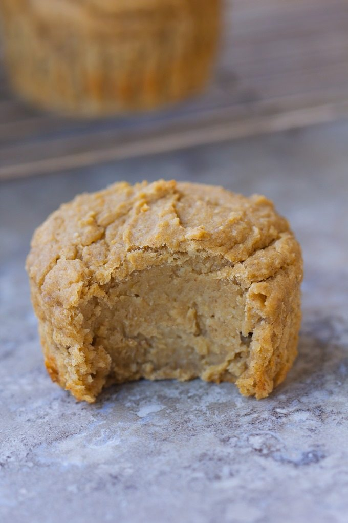 Simple vegan flourless muffins, less than 120 calories each… And so easy to make in the blender! @choccoveredkt https://chocolatecoveredkatie.com/