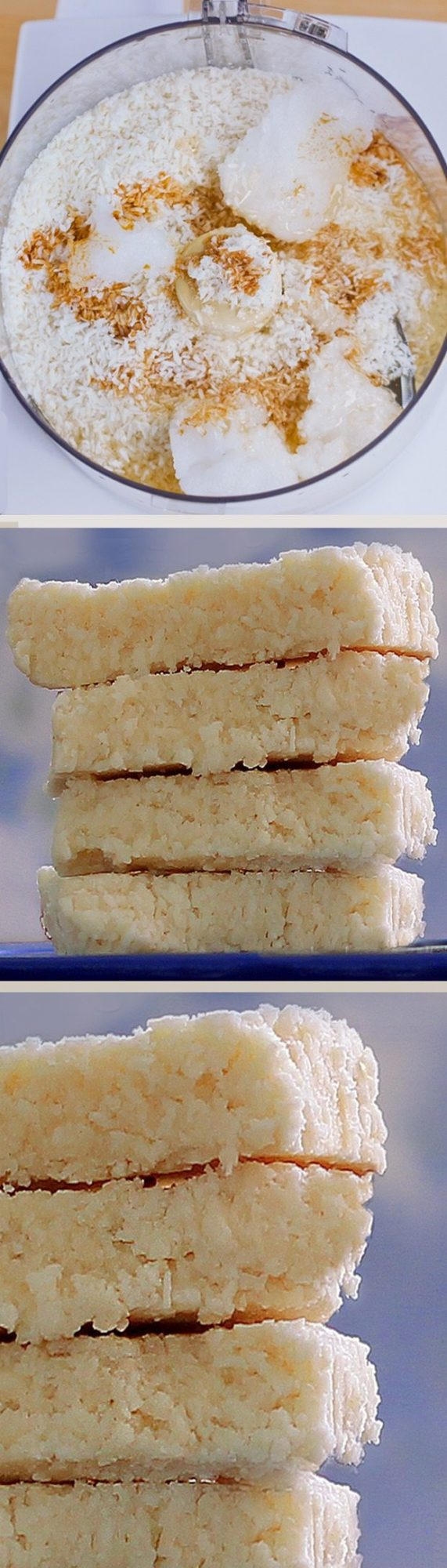 COCONUT CRACK BARS - 1 cup shredded coconut, 1/2 tsp vanilla extract, 1/8 tsp salt, 1/4 cup... Full recipe: http://chocolatecoveredkatie.com/2012/08/30/no-bake-coconut-crack-bars/ @choccoveredkt