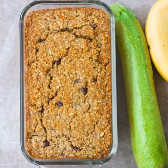 Zucchini Banana Bread – NO Flour Required!