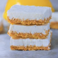 Creamy Vegan Lemon Bars!