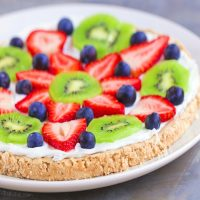 Fruit Pizza–With A Flourless Sugar Cookie Crust