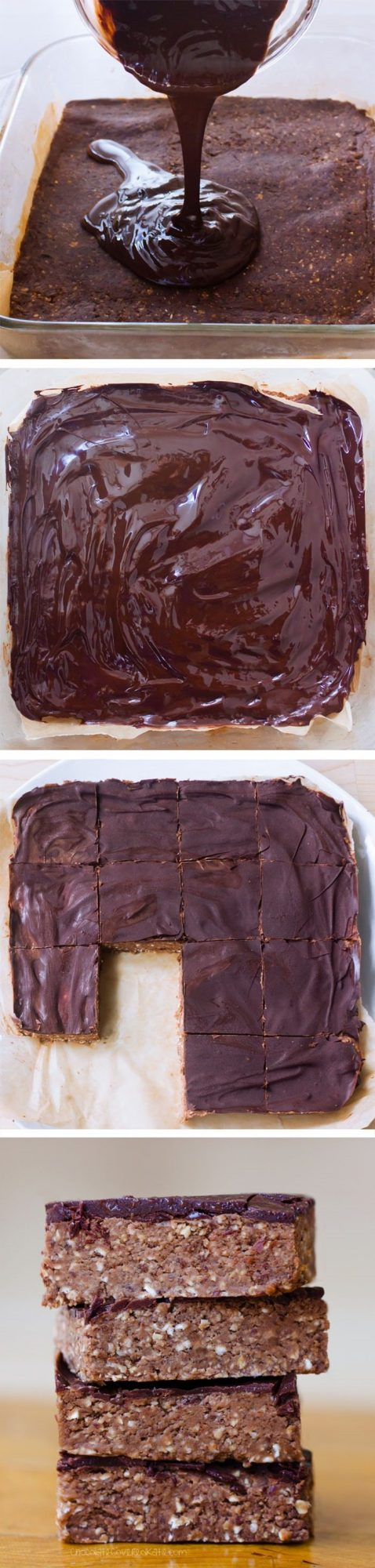Chocolate Breakfast Bars – Ingredients: 1 cup rolled oats, 3 tbsp cocoa powder, 1 tbsp vanilla extract, 1 1/2 cups… Full recipe: http://chocolatecoveredkatie.com @choccoveredkt