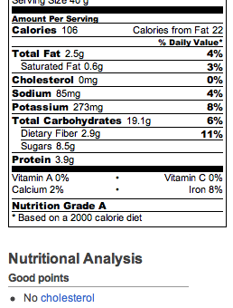 Nutella Muffins Nutrition Facts