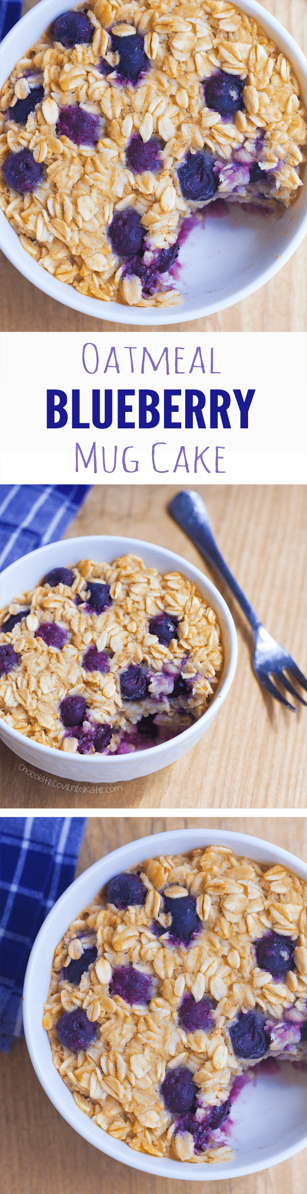 Blueberry Baked Oatmeal Mug Cake Chocolate Covered Katie