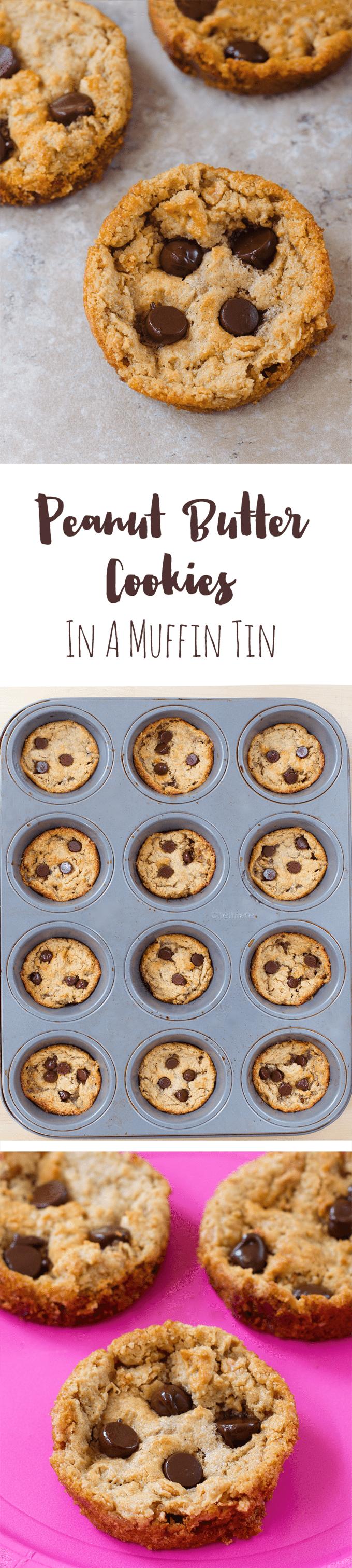 Peanut Butter Cookies - Ingredients: 1/2 cup peanut butter, 1/2 tsp vanilla extract, 1/4 tsp baking soda, 2 tbsp... Full recipe: http://chocolatecoveredkatie.com/2016/08/01/peanut-butter-cookies-muffin-tin/ @choccoveredkt