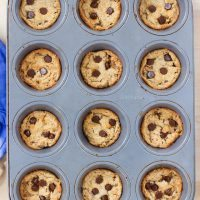 Peanut Butter Cookies – Baked In A Muffin Tin!