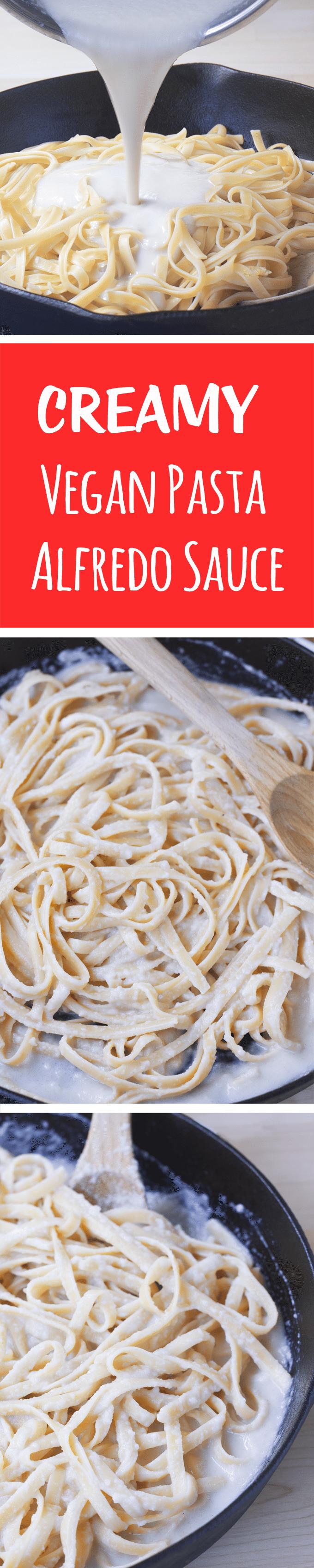 Vegan Pasta Alfredo - Ingredients: 2 cups cauliflower, 2 tsp garlic, 1/4 tsp salt, 1 1/2 cup... Full recipe: http://chocolatecoveredkatie.com/2016/07/28/vegan-pasta-alfredo-recipe @choccoveredkt