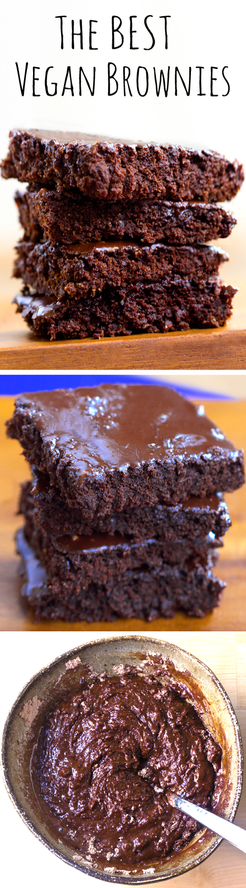The BEST Vegan Brownies, using pantry staple ingredients (no black beans, no tofu)
