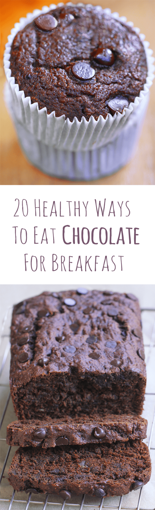 For those days when you want to be healthy, but you're really craving chocolate for breakfast! Full recipes: https://chocolatecoveredkatie.com/2016/08/25/chocolate-breakfast-recipes-healthy/ @choccoveredkt