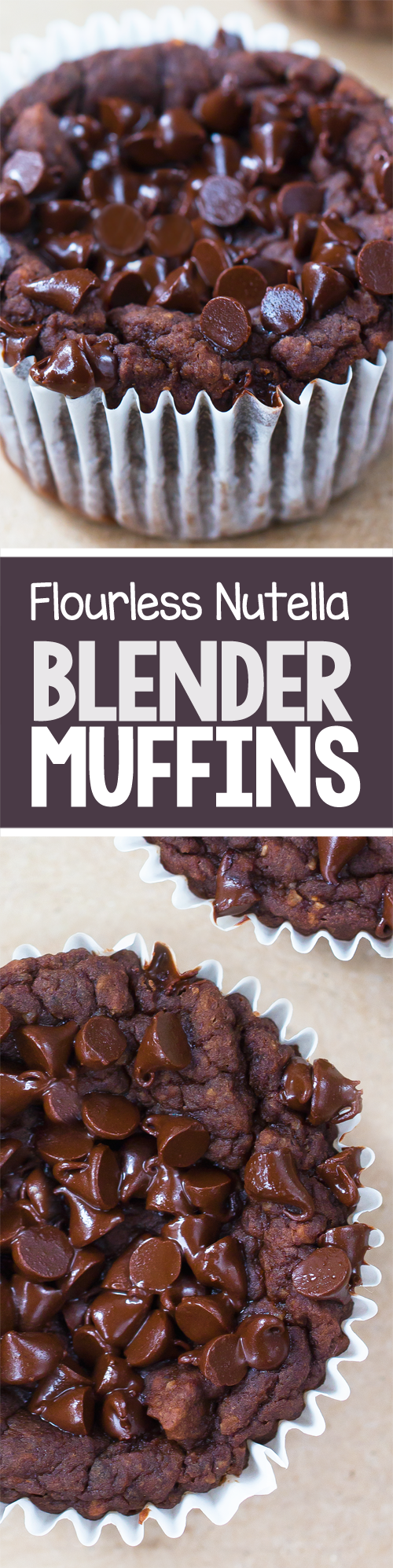 Flourless Nutella Blender Muffins, super healthy recipe!