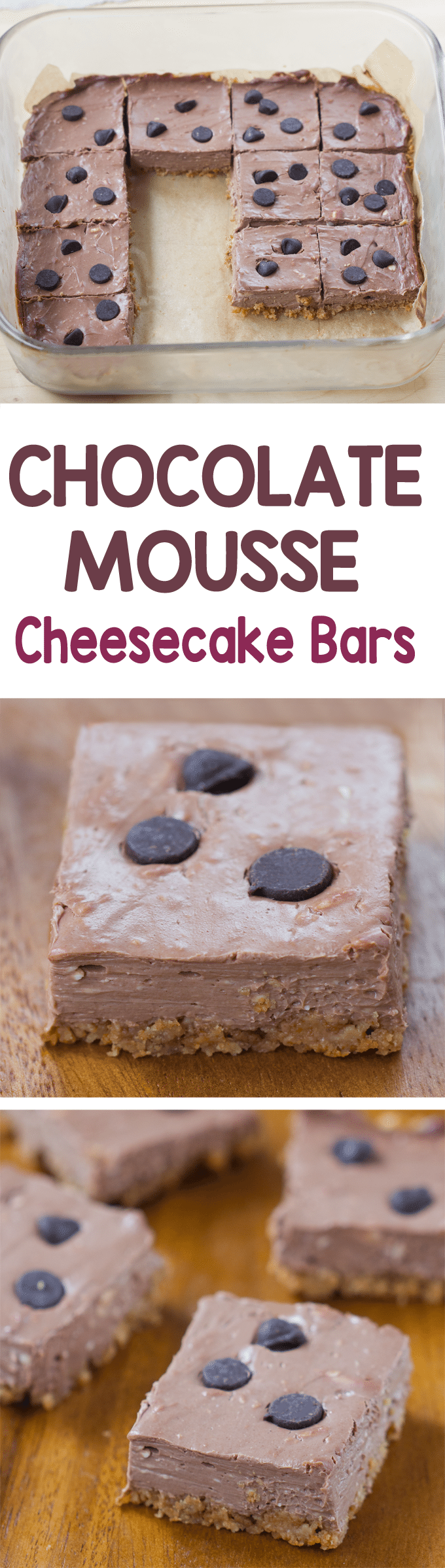 Chocolate Cheesecake Bars - Ingredients: 1/4 cup cocoa powder, 2/3 cup yogurt, 1/2 tsp vanilla, 1 tsp... Full recipe: https://chocolatecoveredkatie.com/2016/08/18/chocolate-mousse-cheesecake-bars/ @choccoveredkt