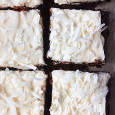 Vegan Chocolate Coconut Brownie Bars