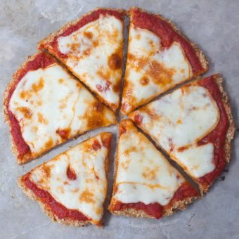 The Best Cauliflower Pizza Crust – Just 5 Ingredients!