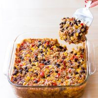 Cheesy Mexican Black Bean Quinoa Casserole