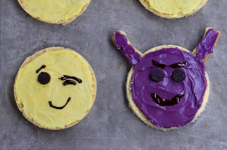 devil emoji cookie