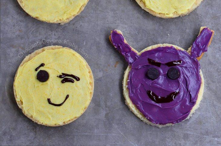 devil emoji cookie