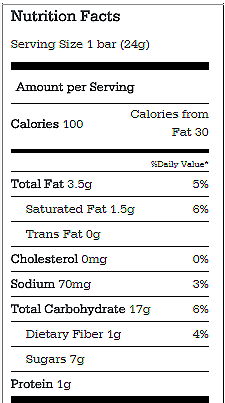 Granola Bars Nutrition – Chocolate Covered Katie Quaker Granola Bars Nutrition Facts
