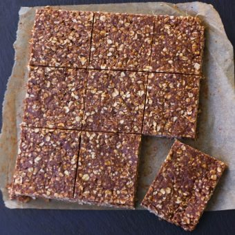 Clean Eating Chocolate Oatmeal No Bake Bars