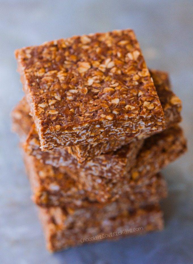 Clean Eating Chocolate Oatmeal No Bake Bars