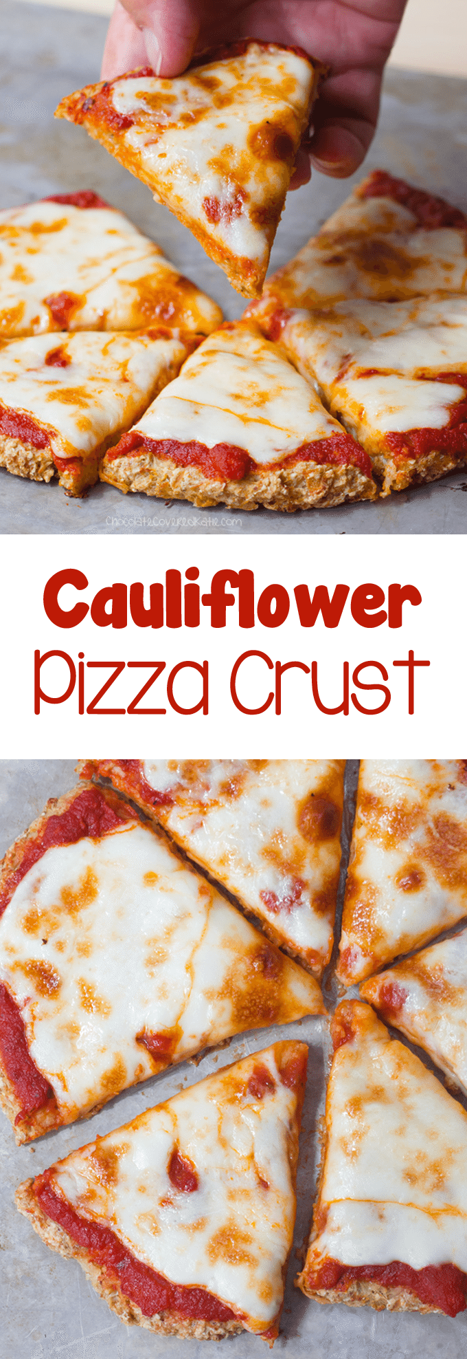 Cauliflower Pizza Crust - Ingredients: 1 cauliflower, 1/4 cup water, 1 tsp oregano, 2 tbsp... Full recipe: chocolatecoveredkatie.com/2016/09/05/cauliflower-pizza-crust-vegan/ @choccoveredkt