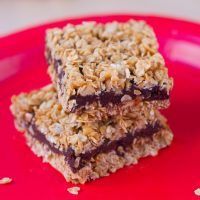 No-Bake Chocolate Banana Oatmeal Fudge Bars