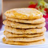 Fluffy Cornbread Pancakes – Oil-Free, Gluten-Free, Vegan!