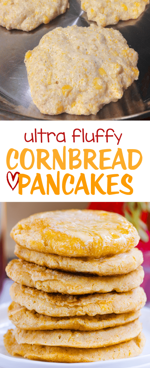 Light & fluffy cornbread pancakes that can be made sweet or savory – good for breakfast or dinner: https://chocolatecoveredkatie.com/2016/10/06/cornbread-pancakes-fluffy-oil-free-gluten-free-vegan/