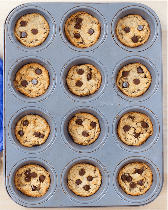 muffin tin pb cookies